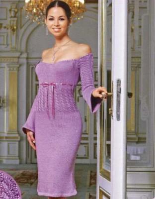 платье вязаное вечернее