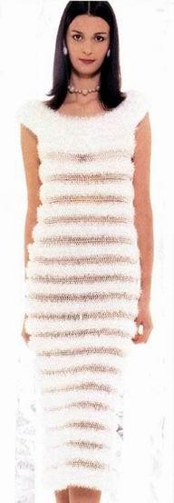 Платье пряжа травка