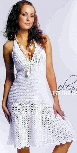 Средняя часть платья и юбка